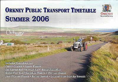 Orkney Islands Council Orkney Transport Guide/Timetable book - Summer 2006