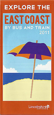 Lincolnshire CC East Coast Area Bus Map & Guide - 2011