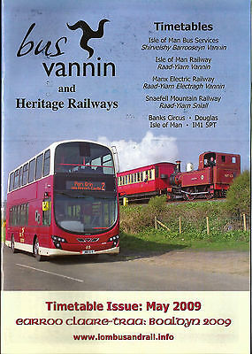 Bus Vannin (Isle of Man) Bus and Heritage Rail Timetable book - May 2009