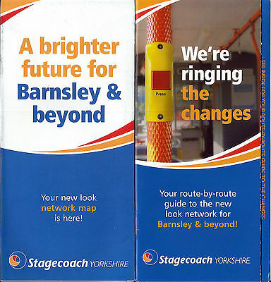 Stagecoach Yorkshire Barnsley area Route Map and Service Guide - May 2007