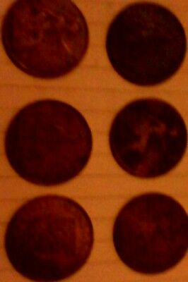 one penny coins