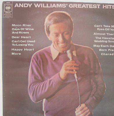 ANDY WILLIAMS Greatest Hits  UK Vinyl LP Record Excellent Condition best of
