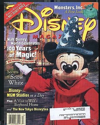 Disney Magazine : Fall 2001 - 100 years of Magic