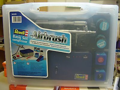 "Revell 39199 Airbrush Basic Set mit Kompressor ""Neu""(AND)"