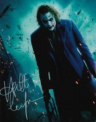 "Heath Ledger The Joker Batman    Pre-Printed Autograph    8""x6"" Metal Plaque"