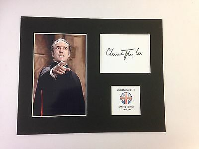 Limited Edition CHRISTOPHER LEE  Signed Mount Display DRACULA