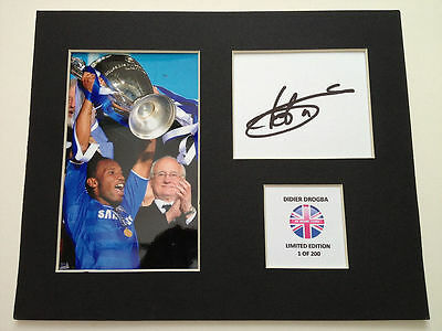 Limited Edition Didier Drogba Chelsea Signed Mount Display AUTOGRAPH