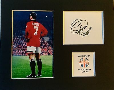 Limited Edition Eric Cantona Football Signed Mount Display MANCHESTER UNITED UTD