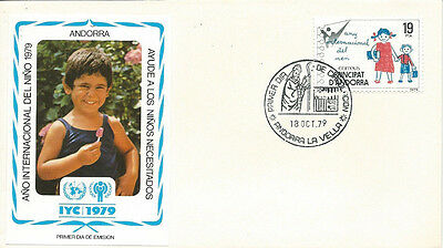 FDC International year of the Child Andorra 1979