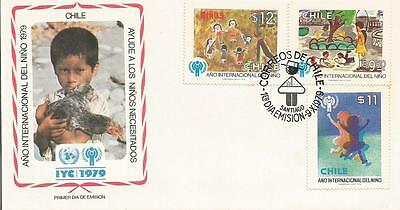 FDC Chile International year of the Child 1979