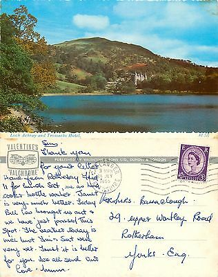s08203 Trossachs Hotel, Loch Achray, Stirlingshire Scotland postcard posted 1965