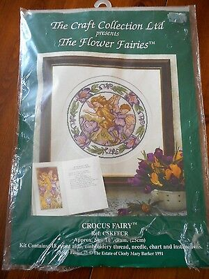 Flower Fairies Cross Stitch Kit Crocus Fairy by The Craft Collection