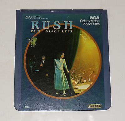 RUSH Exit Stage Left Video Disc RCA CED Capacitance Electronic Disc 12127 1981