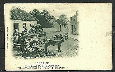 Postcard : Ireland Coal of the Country Black Turf early undivided back