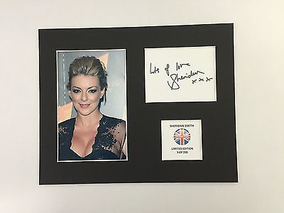 Limited Edition SHERIDAN SMITH Music TV  Signed Mount Display AUTOGRAPH