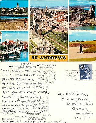 s08234 St Andrews, Fife, Scotland postcard posted 1979 stamp