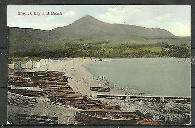 Postcard : Isle of Arran Rowing Boats pulled up on shore Brodick Bay