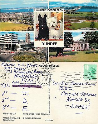 s08249 Dundee, Angus, Scotland postcard posted 1982 stamp