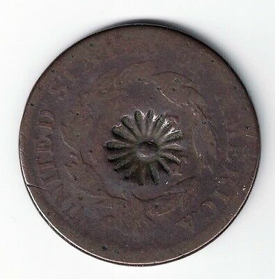 1814 Classic Head Large Cent With Flower Or Rosette Counterstamp