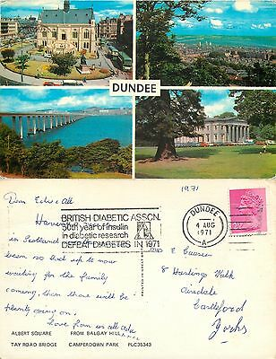 s08250 Dundee, Angus, Scotland postcard posted 1971 stamp