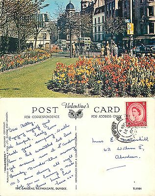s08251 Nethergate Gardens, Dundee, Angus, Scotland postcard posted 1960 stamp