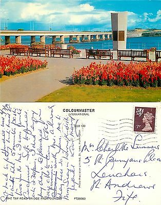 s08253 Tay Road Bridge, Dundee, Angus, Scotland postcard posted 1979 stamp