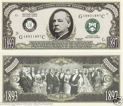 Grover Cleveland 24th US President (2nd Term) Bill #P24