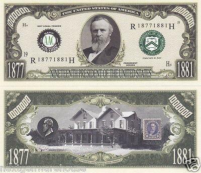 Rutherford B. Hayes 19th US President History Bill #P19