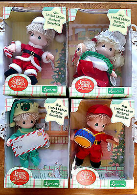 ONE Precious Moments Luv n' Care Christmas Baby Doll Mr. Mrs Santa  Drummer Boy