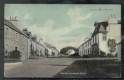 Postcard : Dalry Main Street looking East posted 1909