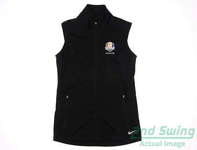 New Womens Nike 2016 Ryder Cup Shield Wind Vest X-Large XL Black MSRP $78