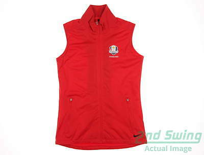 New Womens Nike 2016 Ryder Cup Shield Wind Vest X-Large XL Red MSRP $78