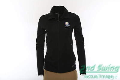 New Womens Nike 2016 Ryder Cup Thermal Zip Jacket X-Small XS Black MSRP $105