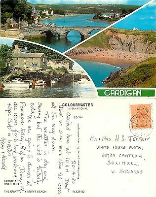 s08275 Cardigan, Cardiganshire, Wales postcard posted 1980 stamp