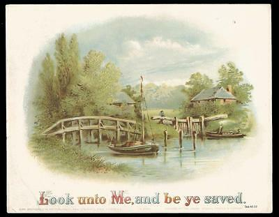 J05 - Victorian Religious Motto Chromolithographic Print - Birn Brothers