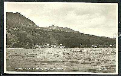 Postcard : Island of Arran village of Corrie from the Water