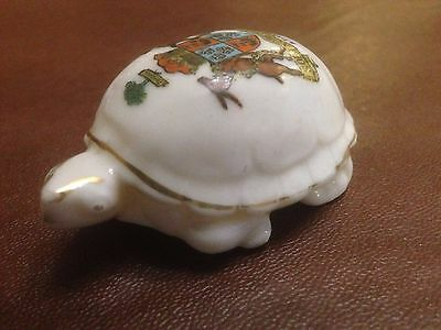 Old Stanmore Crested China On Tortoise / Turtle - Arcadian Crested China