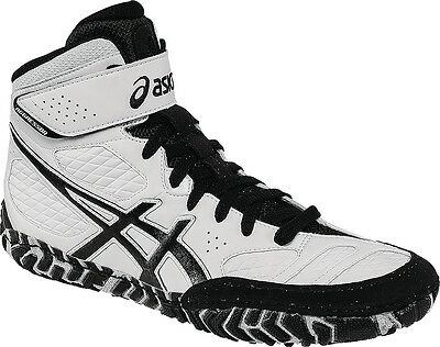 New Mens/youth/boys Asics Aggressor 2 Wrestling Shoes-7.5/39-White/black/silver