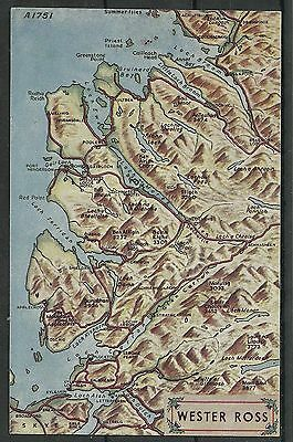 Postcard : Map of Wester Ross