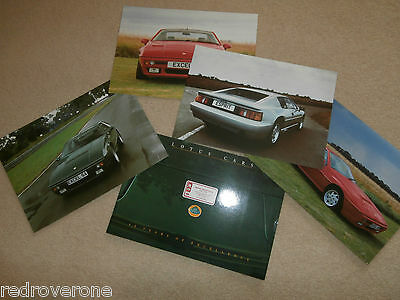 LOTUS EXCEL & ESPRIT Brochure .Plus 4 Flyers.1989.Collectors condition