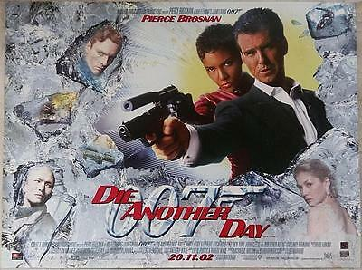 James Bond - Die Another Day - Original Uk Premiere Poster - 2002 - Rare