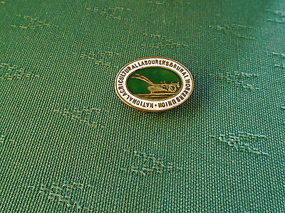 Vintage National Agricultural Labourers Rural Workers Trade Union Enamel Badge