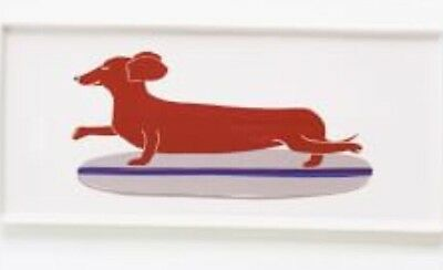 BN  Claudia Pearson West Elm Dachsund Plate Rectangle Dish Surfer