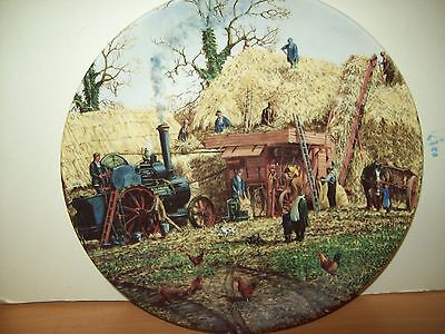 """Certificated  Plate Collection Michael Herring"""" Threshing"""" From The Farm Years"""