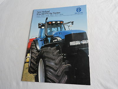 NEW HOLLAND TM 95 -160 PTO hp Tractor advertising brochure #33012060 farming