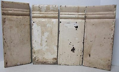 Lot 4 Antique Carved Wood Plinth Block Trim Door Moulding Architectural Salvage