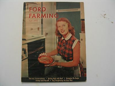 Ford Farming Magazine..fall 1951....ford Farm Equipment... Good+...