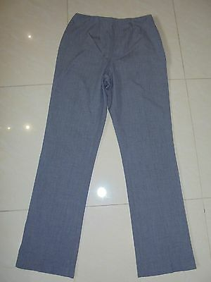 Marks And Spencer Grey Mix Smart Office Work Trousers Size 14