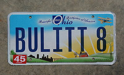 Ohio Sunrise Vanity License Plate # BULITT 8