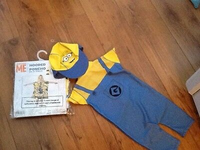 despicable me  beach suit with hat and  hooded towell, age 18-24 months bnwt